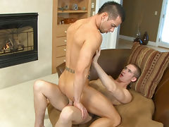 Two hunks are having a blast sucking and fucking each other!